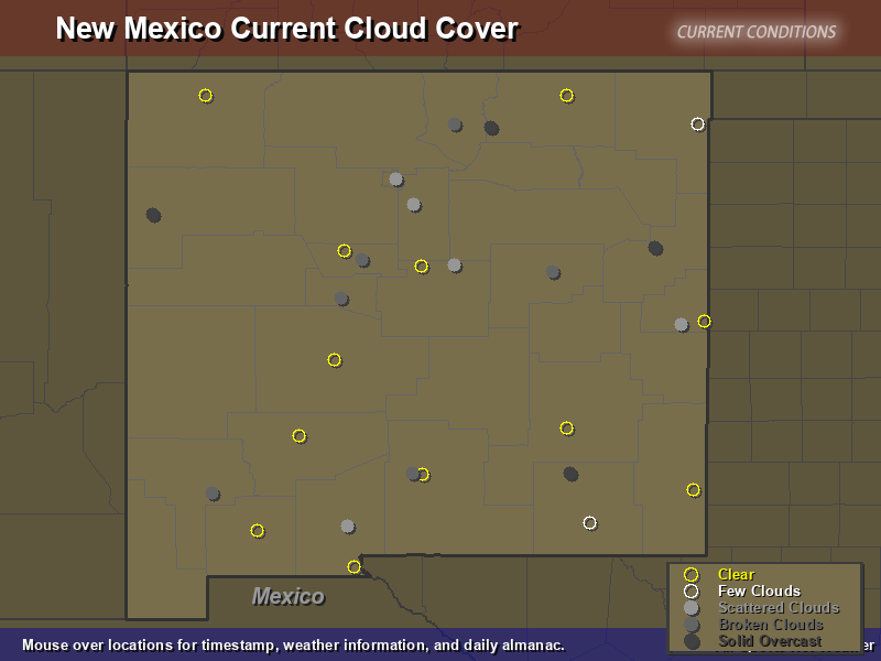 New Mexico Cloud Cover Map