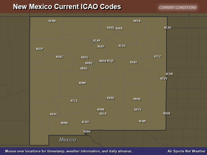New Mexico ICAO Map