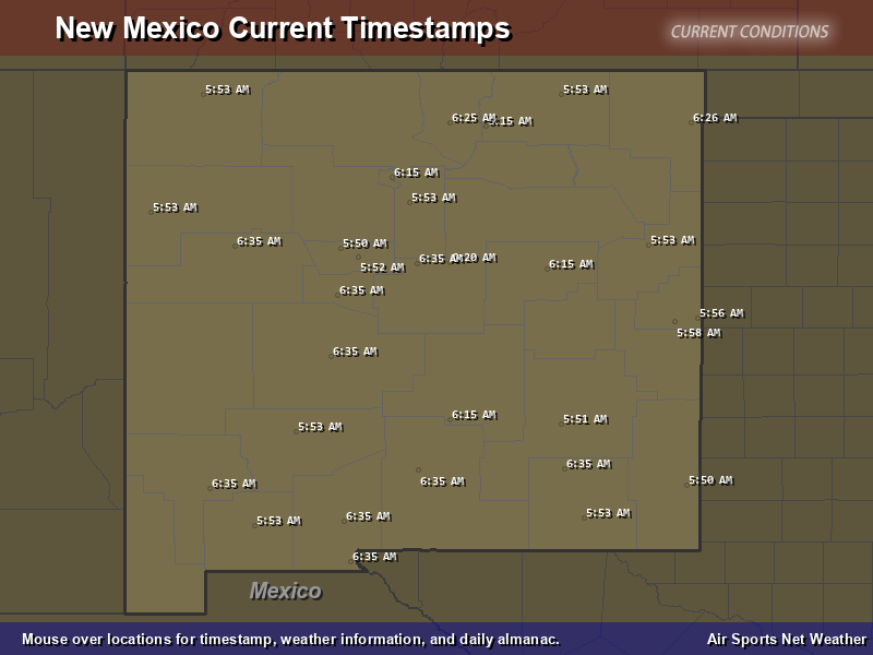 New Mexico Timestamp Map