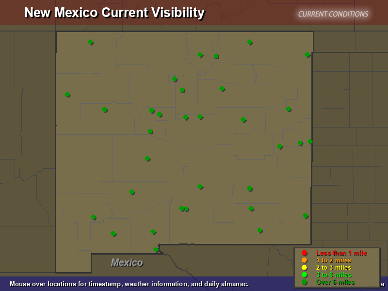 New Mexico Visibility Map