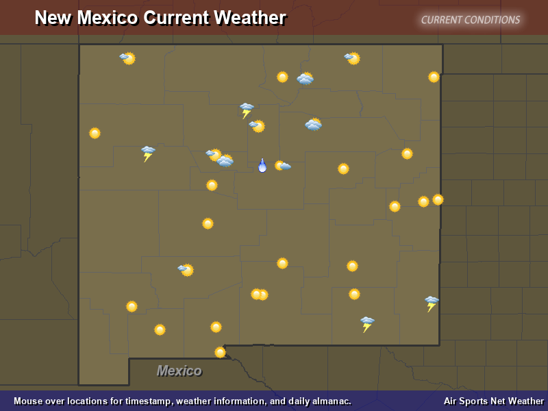 New Mexico Weather Map