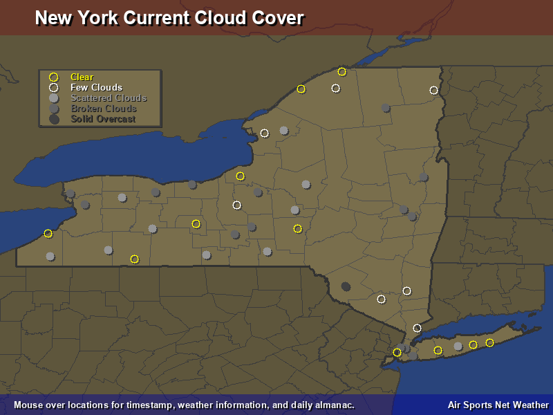 New York Cloud Cover Map