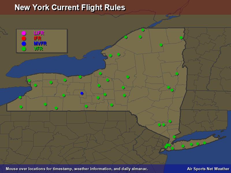 New York Flight Rules Map