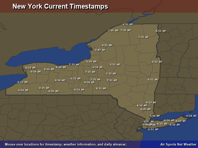 New York Timestamp Map