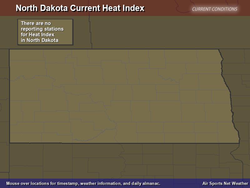 North Dakota Heat Index Map