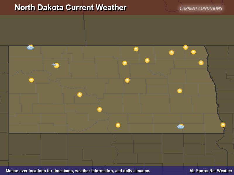 North Dakota Weather Map