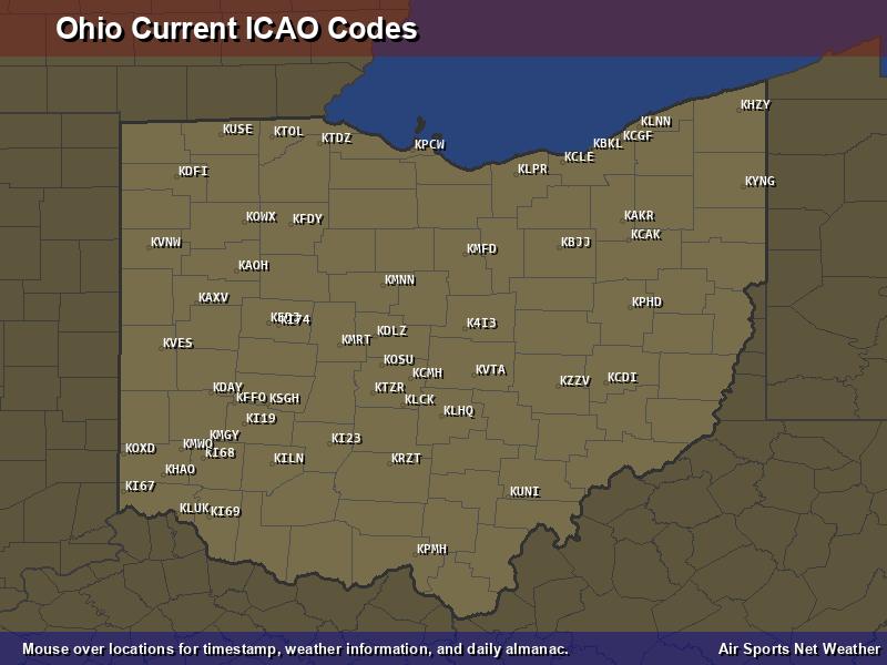 Ohio ICAO Map