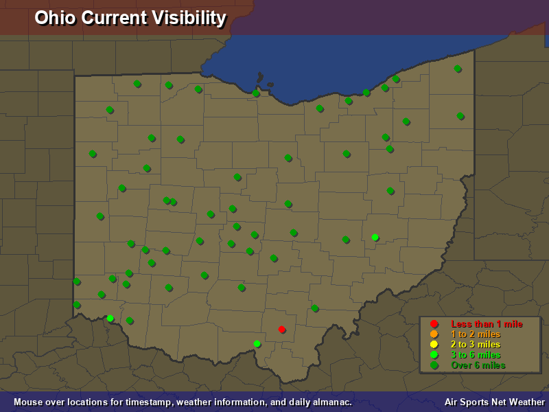 Ohio Visibility Map