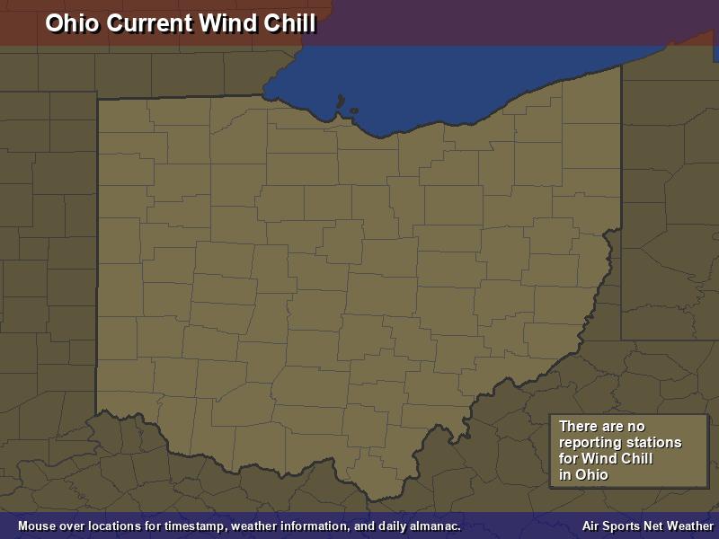 Ohio Wind Chill Map