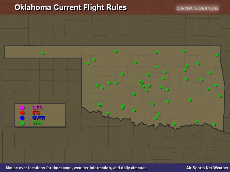 Oklahoma Flight Rules Map