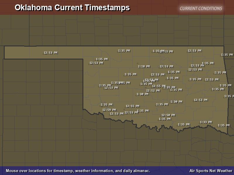 Oklahoma Timestamp Map