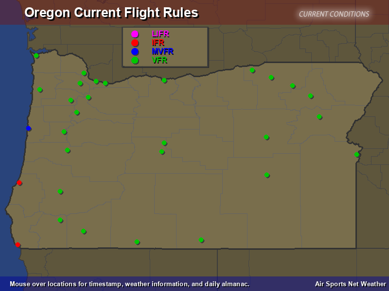 Oregon Flight Rules Map
