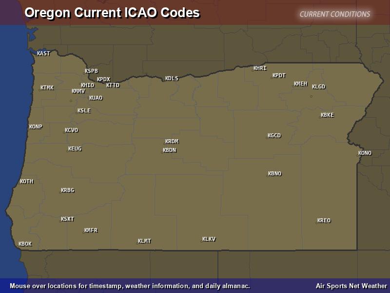 Oregon ICAO Map