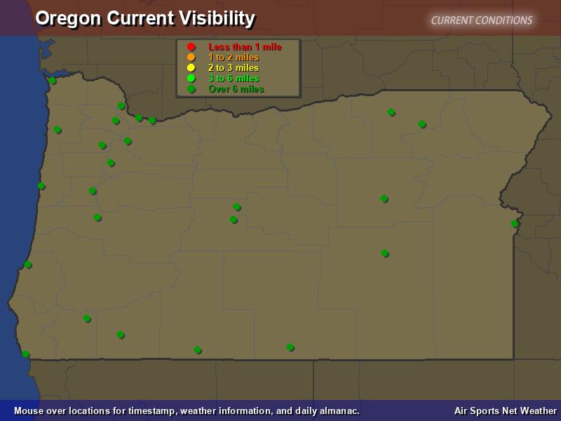 Oregon Visibility Map