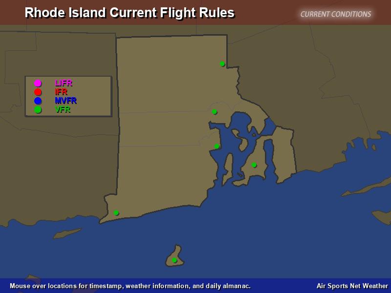 Rhode Island Flight Rules Map