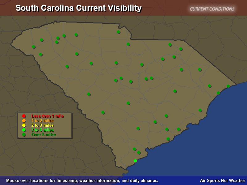 South Carolina Visibility Map