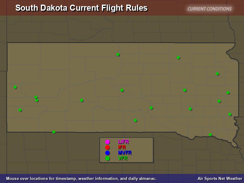 South Dakota Flight Rules Map