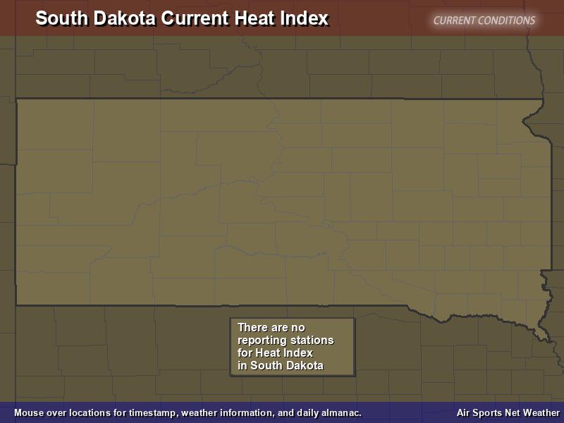 South Dakota Heat Index Map