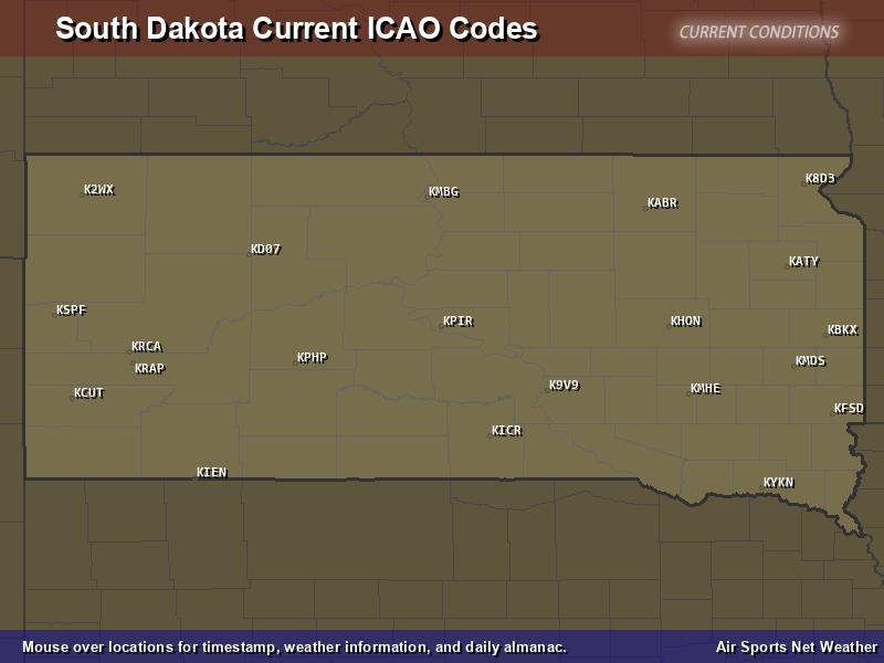 South Dakota ICAO Map