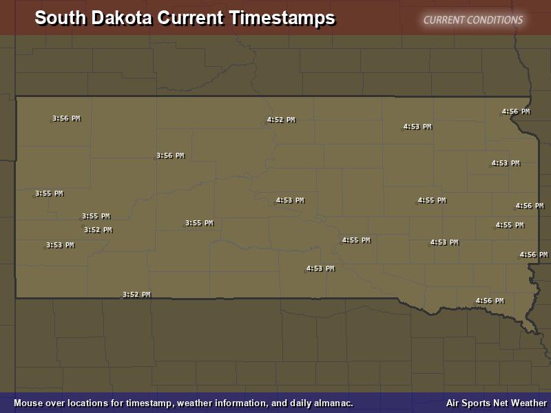South Dakota Timestamp Map