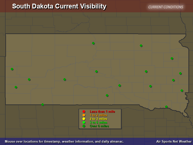 South Dakota Visibility Map
