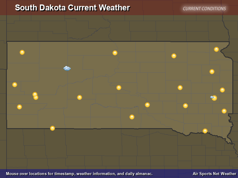 South Dakota Weather Map