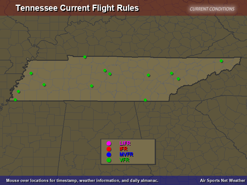 Tennessee Flight Rules Map