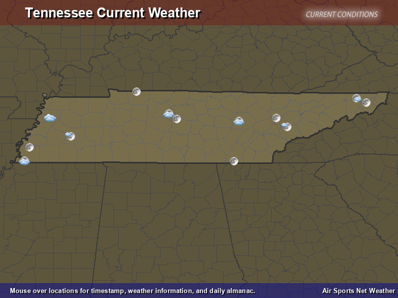 Tennessee Weather Map