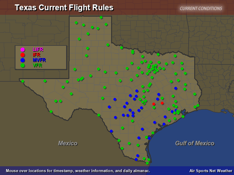 Texas Flight Rules Map
