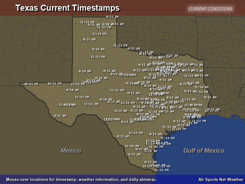 Texas Timestamp Map