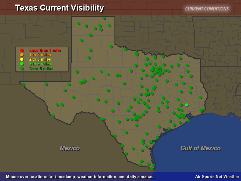 Texas Visibility Map