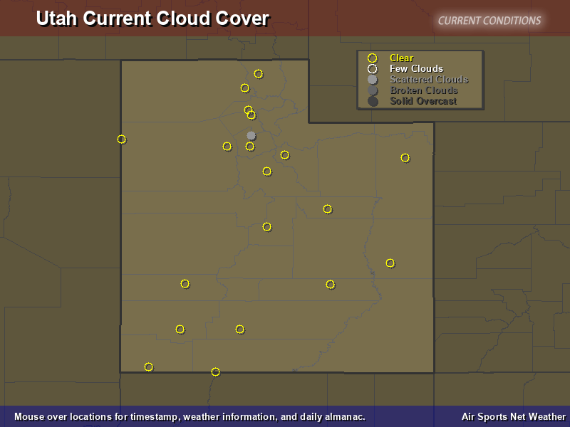 Utah Cloud Cover Map