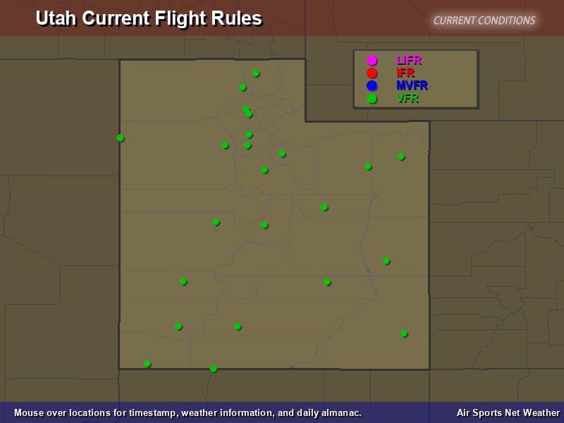 Utah Flight Rules Map