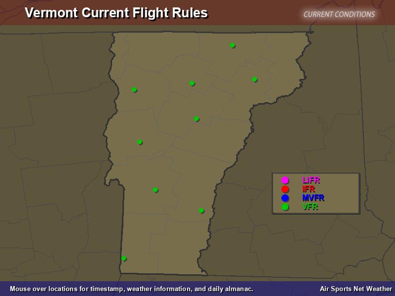 Vermont Flight Rules Map  Air Sports Net