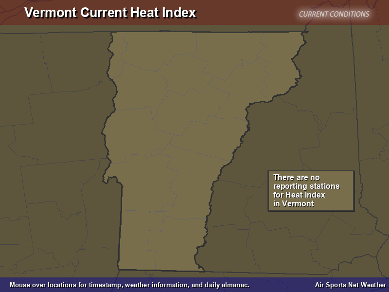 Vermont Heat Index Map