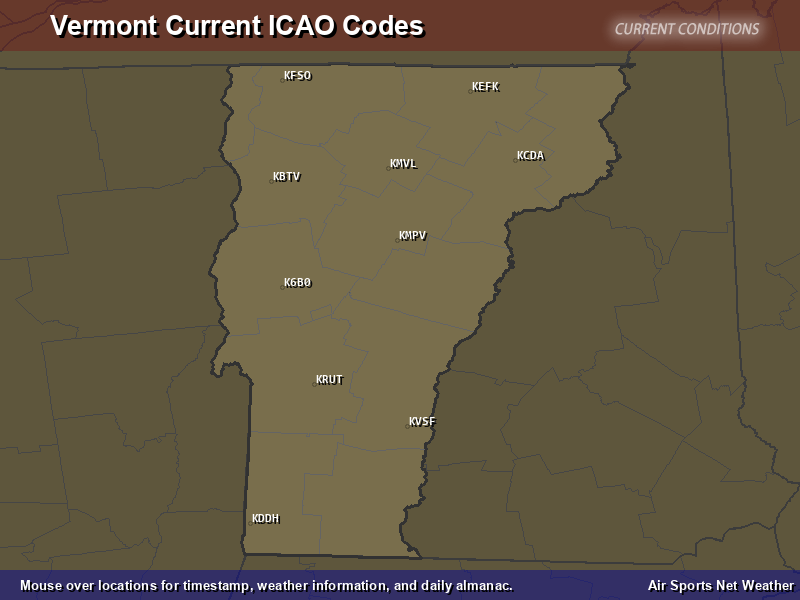 Vermont ICAO Map