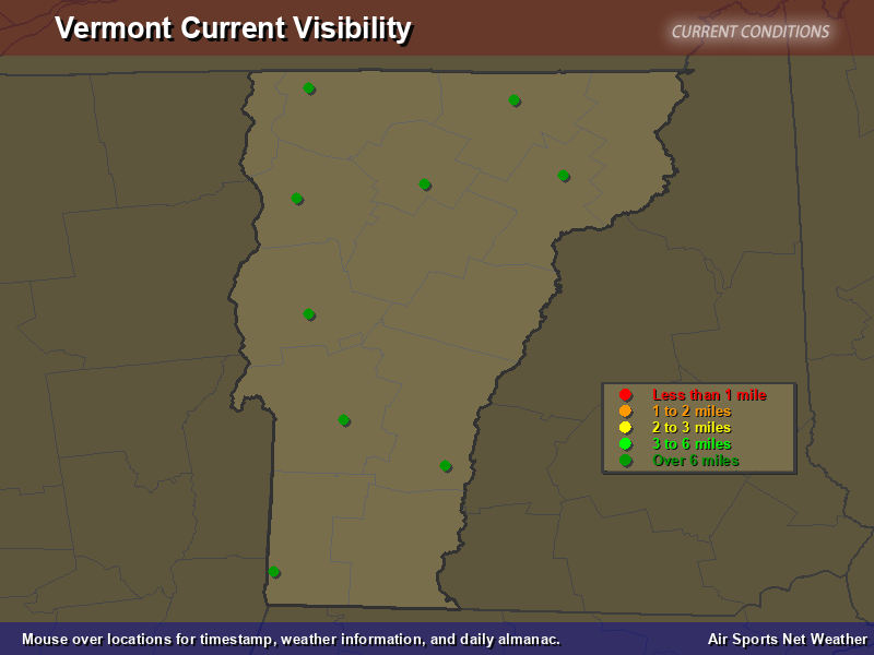 Vermont Visibility Map