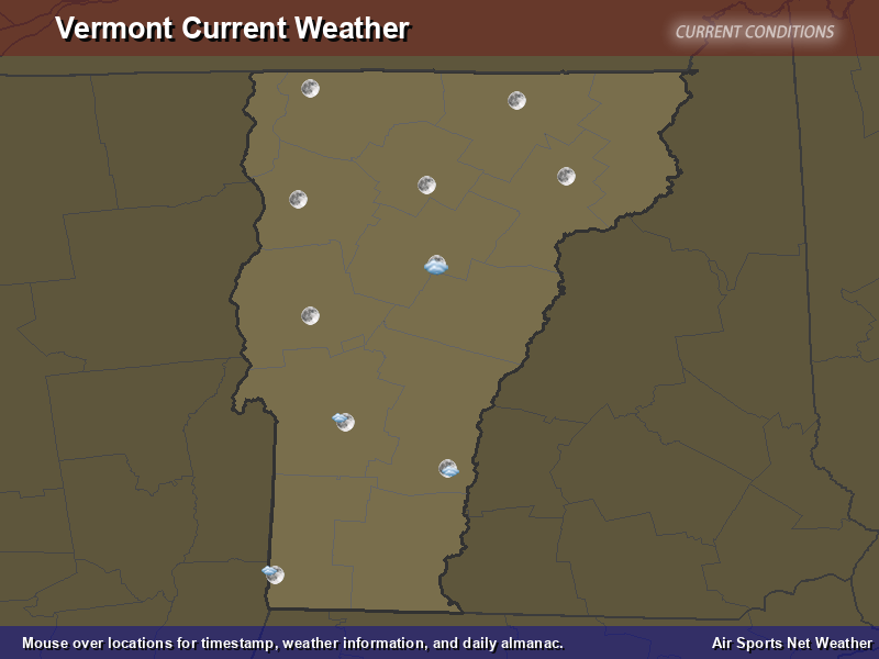 Vermont Weather Map