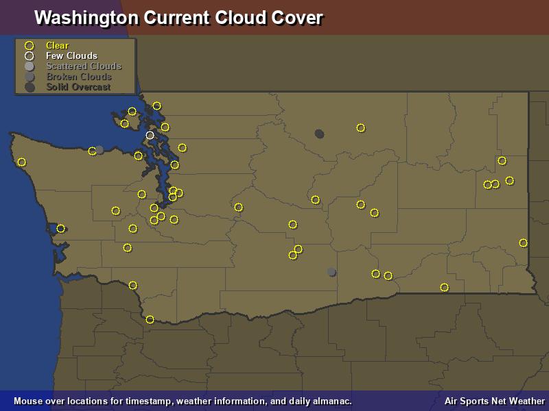 Washington Cloud Cover Map