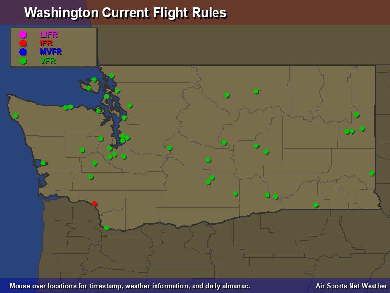 Washington Flight Rules Map