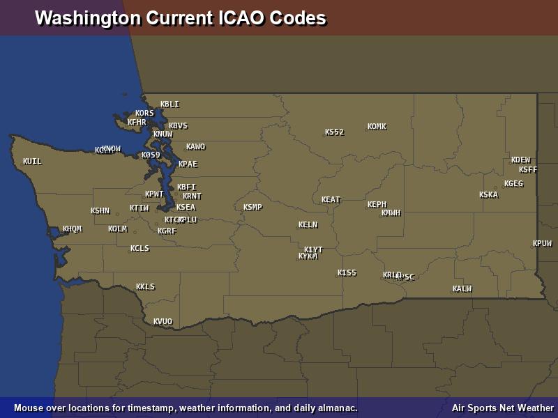 Washington ICAO Map