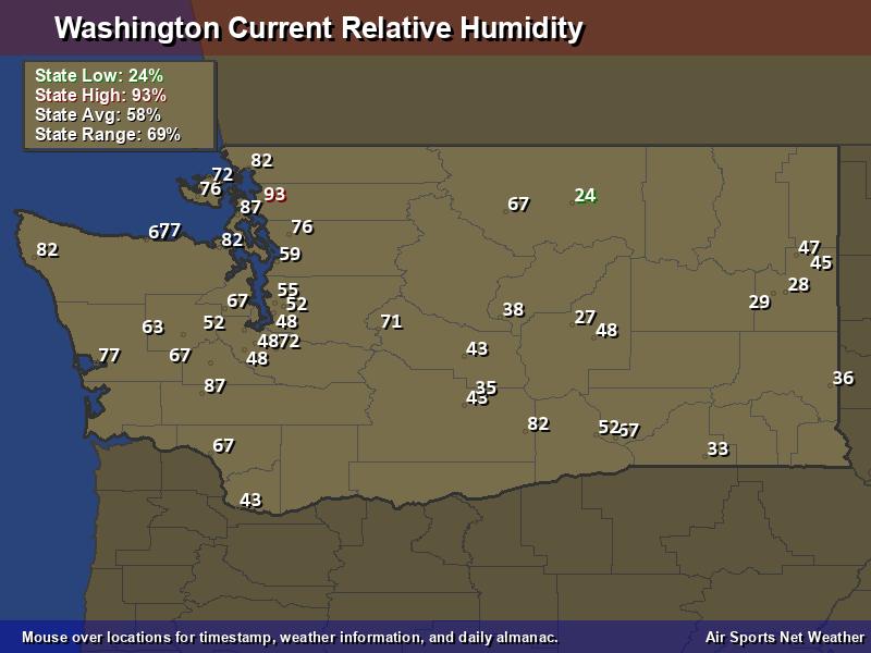 Washington Relative Humidity Map