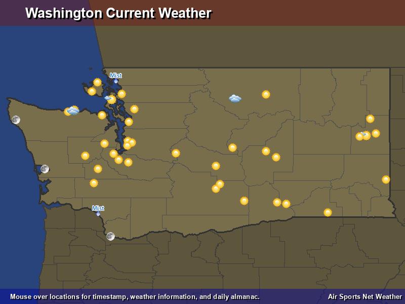 Washington Weather Map