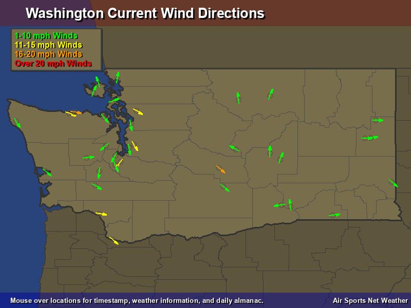 Washington Wind Direction Map