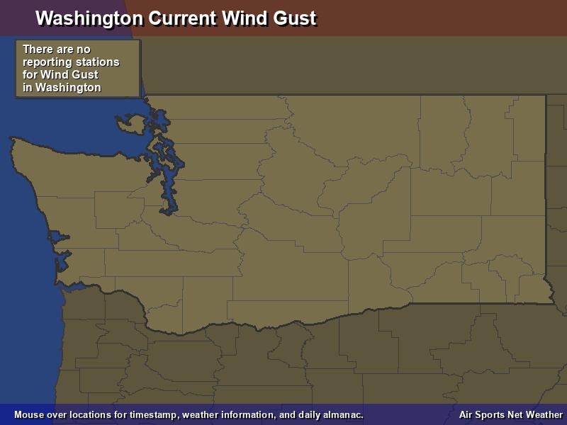 Washington Wind Gust Map