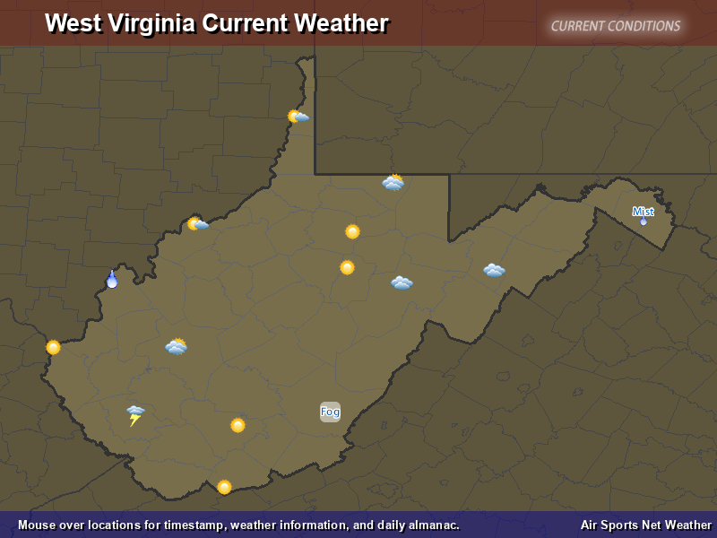 West Virginia Weather Map