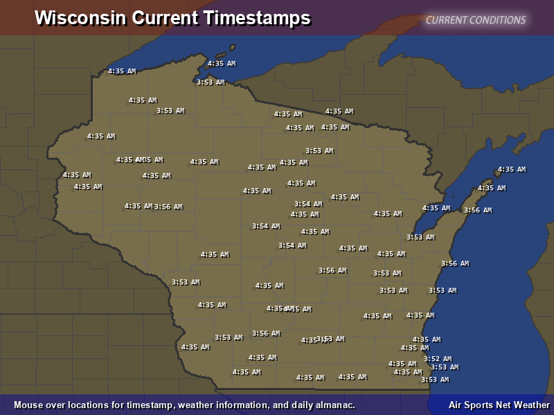 Wisconsin Timestamp Map