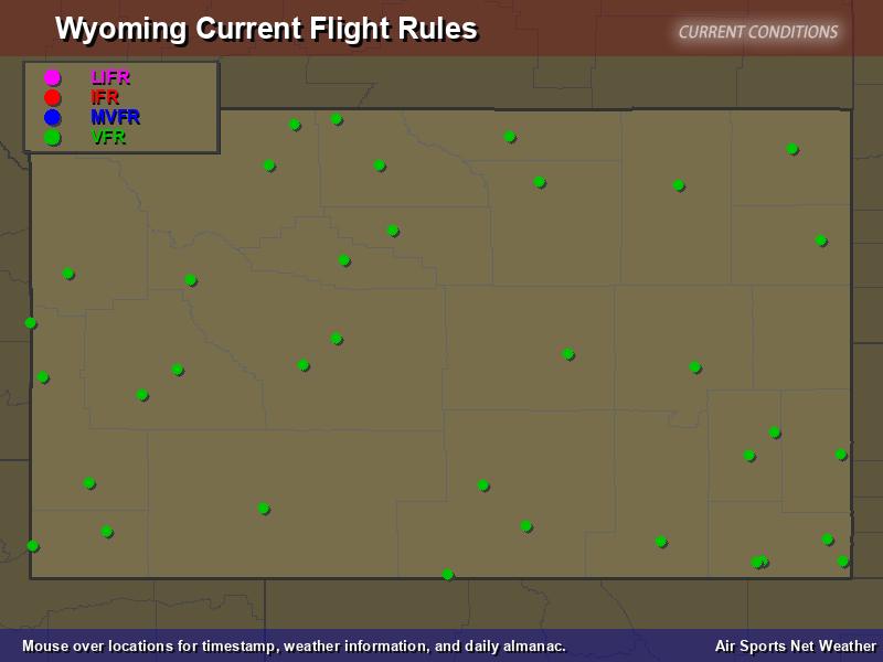 Wyoming Flight Rules Map