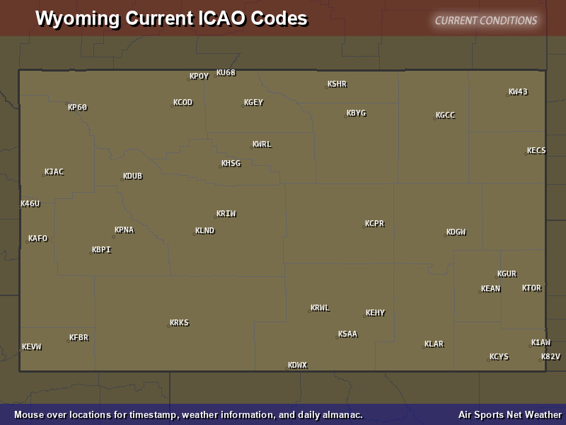 Wyoming ICAO Map