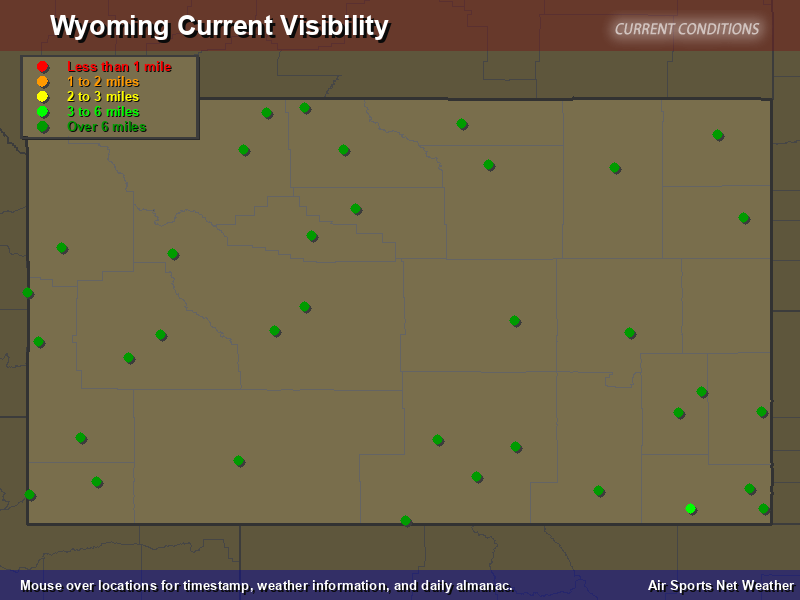 Wyoming Visibility Map